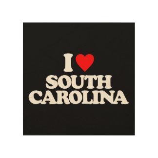 I LOVE SOUTH CAROLINA WOOD CANVAS
