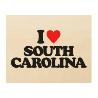 I LOVE SOUTH CAROLINA WOOD CANVASES