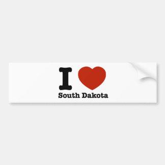 I Love South dakota Bumper Stickers