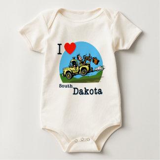 I Love South Dakota Country Taxi Baby Bodysuit