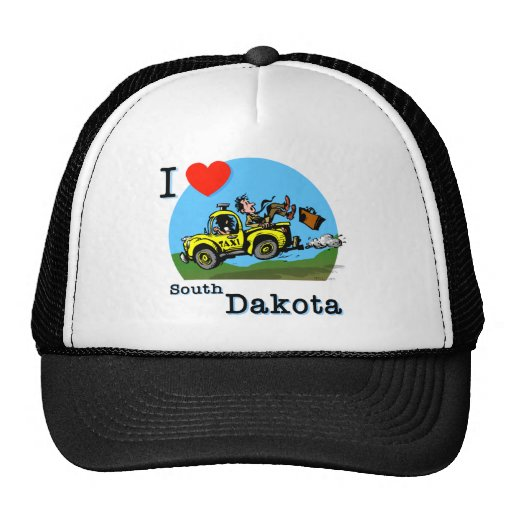 I Love South Dakota Country Taxi Hats