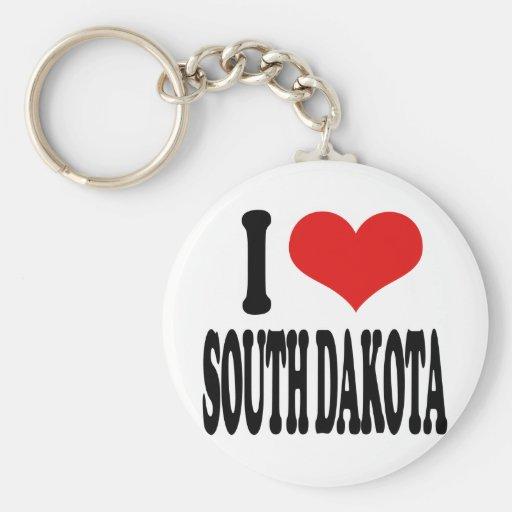 I Love South Dakota Key Chain
