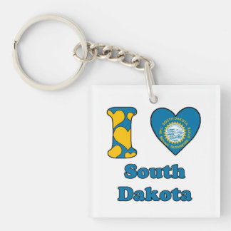 I love South Dakota Keychain