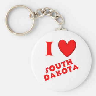 I Love South Dakota Keychain