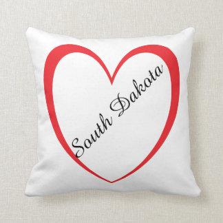 I Love South Dakota Polyester Throw Pillow