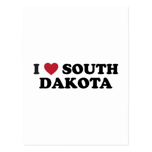 I Love South Dakota Postcard