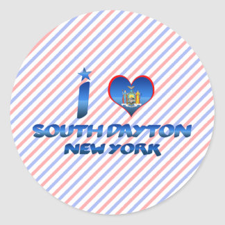 I love South Dayton, New York Stickers