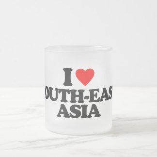 I LOVE SOUTH-EAST ASIA 10 OZ FROSTED GLASS COFFEE MUG