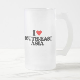 I LOVE SOUTH-EAST ASIA 16 OZ FROSTED GLASS BEER MUG