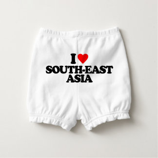 I LOVE SOUTH-EAST ASIA DIAPER COVER