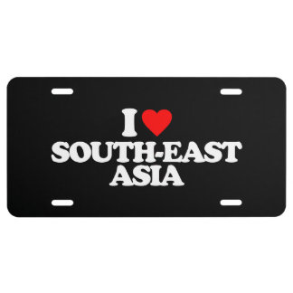 I LOVE SOUTH-EAST ASIA LICENSE PLATE