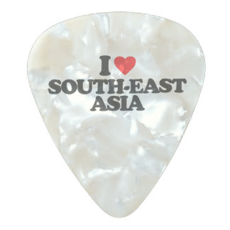 I LOVE SOUTH-EAST ASIA PEARL CELLULOID GUITAR PICK