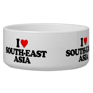 I LOVE SOUTH-EAST ASIA DOG FOOD BOWL