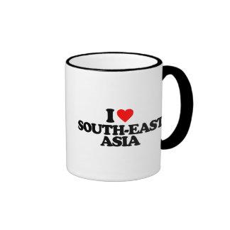 I LOVE SOUTH-EAST ASIA RINGER COFFEE MUG
