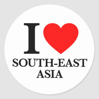I Love South-East Asia Round Sticker