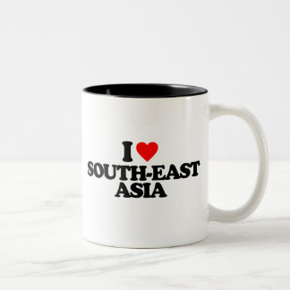 I LOVE SOUTH-EAST ASIA Two-Tone COFFEE MUG