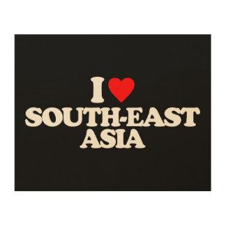 I LOVE SOUTH-EAST ASIA WOOD WALL ART