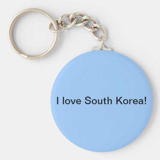 I love South Korea keychain! Basic Round Button Keychain