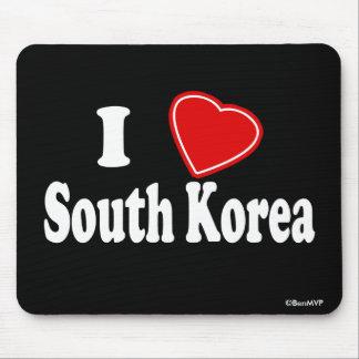 I Love South Korea Mouse Pad