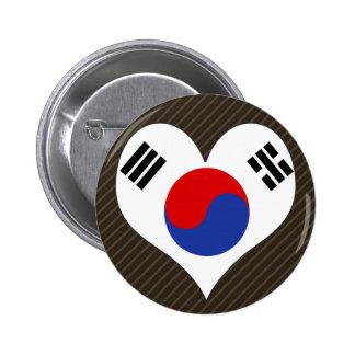 I Love South Korea Pinback Button