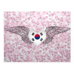 I Love South Korea -wings Postcard