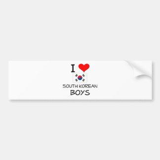 I Love South Korean Boys Bumper Sticker