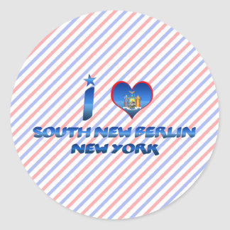 I love South New Berlin, New York Round Stickers