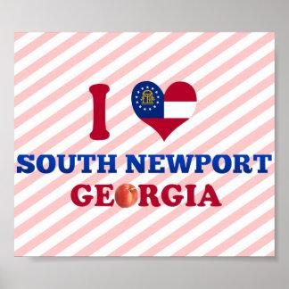 I Love South Newport, Georgia Print