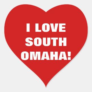 I LOVE SOUTH OMAHA! HEART STICKER