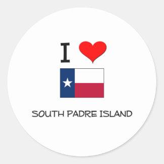 I Love South Padre Island Texas Classic Round Sticker