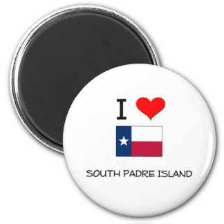 I Love South Padre Island Texas Magnet