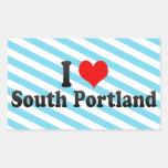 I Love South Portland, United States Rectangular Stickers
