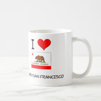 I Love SOUTH SAN FRANCISCO California Classic White Coffee Mug