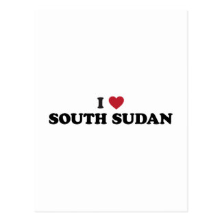 I Love South Sudan Postcard