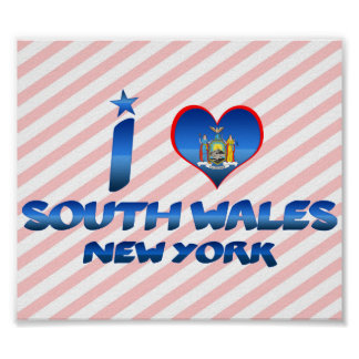 I love South Wales, New York Poster