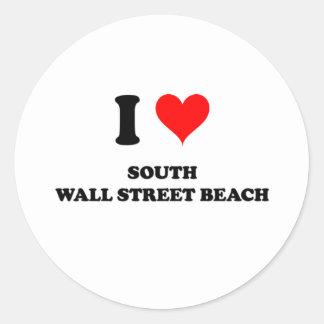 I Love South Wall Street Beach Florida Classic Round Sticker