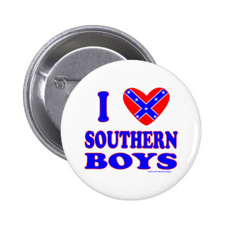 I LOVE SOUTHERN BOYS T-SHIRTS AND GIFTS PINBACK BUTTON