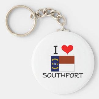 I Love Southport North Carolina Keychain