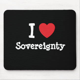 I love Sovereignty heart custom personalized Mouse Pad