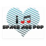 I Love Space Age Pop Postcard