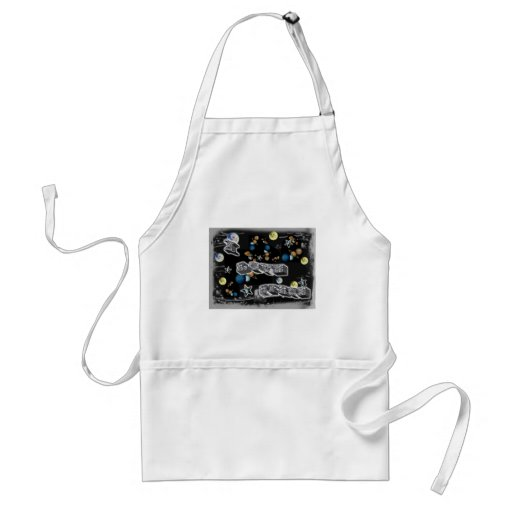 I Love Space Aprons