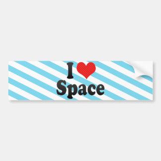 I Love Space Bumper Sticker
