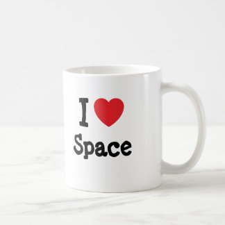 I love Space heart custom personalized Coffee Mugs