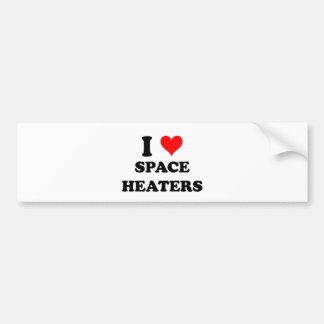 I Love Space Heaters Bumper Stickers
