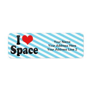 I Love Space Return Address Label