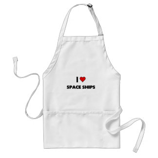 I love Space Ships Adult Apron