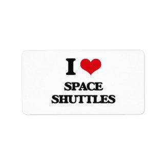 I love Space Shuttles Address Label