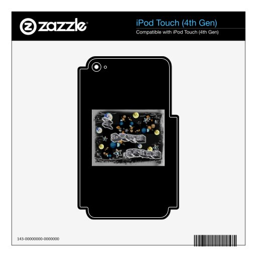 I Love Space Decal For iPod Touch 4G