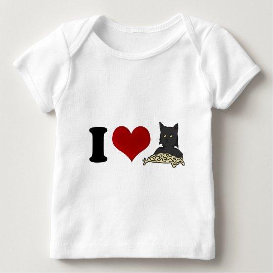 I Love Spaghetti Cat Baby T-Shirt