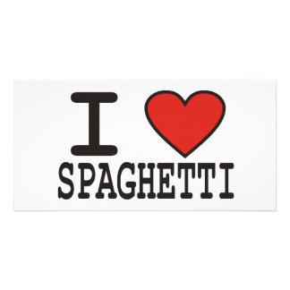 I Love Spaghetti Custom Photo Card